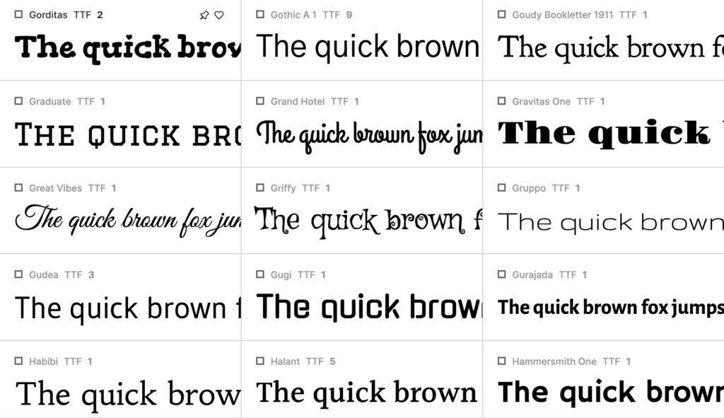 Aperçu du logiciel Fontbase, gestionnaire de typographie indispensable
